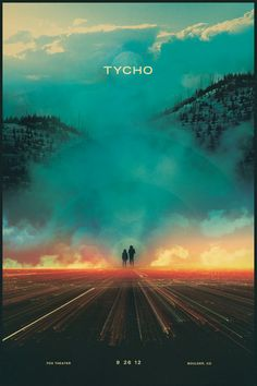 """First Tycho show in Boulder, CO and we're all really excited. So excited that I created a poster specifically for the show."" Tycho / ISO50 / Scott Hanson"