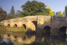 Stopham Bridge  One of the finest medieval bridges in the south of England, this one crosses the river Arun near Petworth - built around 1423 to replace a previous wooden bridge.
