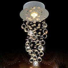2016 Nuevo Lustre Lustre Lámpara LED Luces de Techo de Cristal K9 Lámpara Colgante Para Regalo de Boda CETM6106 D20 * H40cm C CETM6106