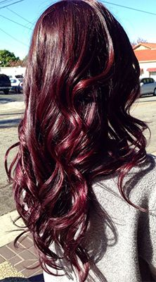 Deep plum with dark red hues.