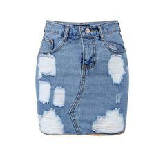Knee length denim skirt, Black denim and Zippers on Pinterest
