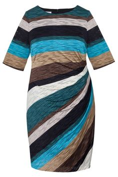 Plus Size - Striped Casual Dress - London Times at Maggy London