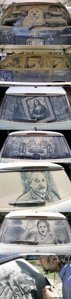 Funny Pictures: Dirty Window Art