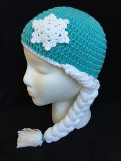 Punto de ganchillo sombrero de Elsa ganchillo congeladas Hat