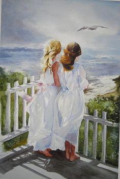 "early watercolor ""Sisters"" by Heidi Reeves"