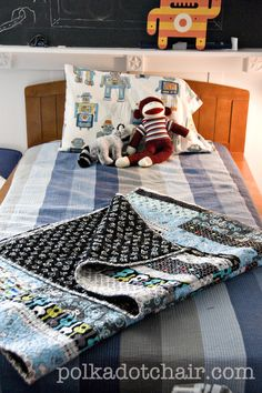 boy quilts - guitar fabric for F.