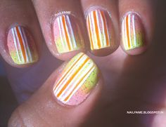 GRADIENT...GLITTER AND STRIPES