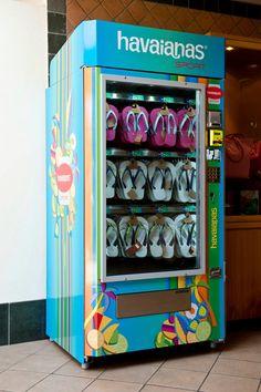 Havaianas Vending Machine in Roma, Italy