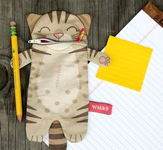 Spoonflower winner-Cut and sew pencil case. (oddly it wasn't an option I saw when I voted, and it's adorable!0