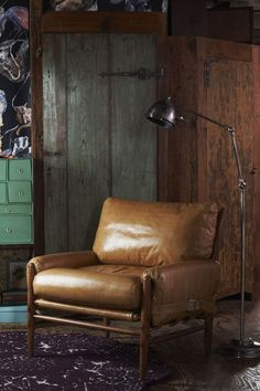 lovely leather chair from anthropologie
