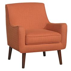 Ink+Ivy Oxford Cayenne Red Upholstered Mid-Century Accent Chair - RC Willey Home Furnishings