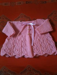 Lace Baby Sweater, free pattern by La Dolce Duchessa