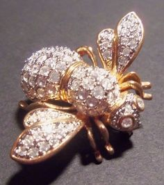 RARE Joan Rivers Large Crystal Queen Honey Bee by SCLadyDiJewelry