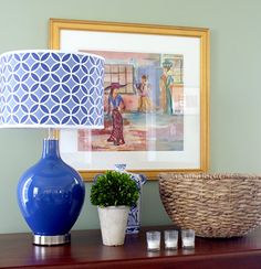 Loving the @Lamps Plus color plus lamp in cobalt blue!