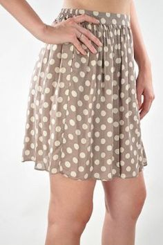 """Dotted Skirt in Mauve $32.99 - Take 20% off this item at our Back to School Sale with code """"B2SCHOOL"""" Aug. 1-5! www.frock-stock.com"""