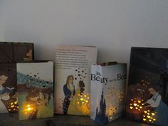 8 Luminaries, Beauty and the Beast Decorations, Disney Centerpiece, Beauty and the Beast Wedding, Belle Party Decor, Belle Birthday
