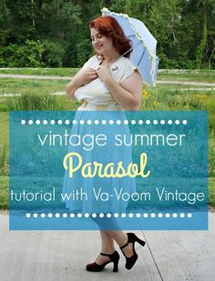 how to make a vintage style parasol from an old umbrella via va-voom vintage. I love this woman. Victorian Steampunk, Steampunk Diy, Victorian Corset, Vintage Outfits, Vintage Fashion, Vintage Style, Cosplay Tutorial, Diy Clothing, Vintage Clothing