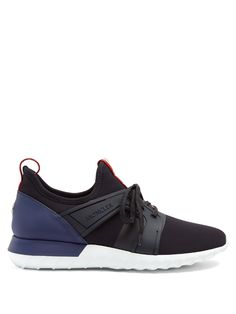MONCLER Emilien Low-Top Neoprene Trainers. #moncler #shoes #sneakers