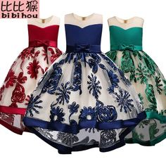 Girls Dress kids Embroidery Elegant Pageant Party Princess Dress for Girls clothes christmas costumes for children Toddler girls - Girls Party Dress, Little Dresses, Little Girl Dresses, Baby Dress, Girls Dresses, Party Dresses, Wedding Dresses, Newborn Outfits, Kids Outfits