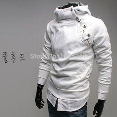 Cheap freeshiping, 2014 nuevo otoño& invierno sudadera con capucha de piel rabit hombres, sudaderas chaquetas de moda hombres abrigo es de algodón, Compro Calidad Sudaderas directamente de los surtidores de China: