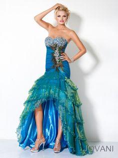 #Jovani 3604 peacock prom dress, high low prom dress, #InternationalProm #Prom #Promdress #Prom360