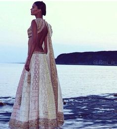beautiful white lehenga