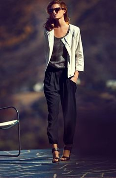 "Eileen Fisher Zip Jacket, Silk Shell & Ankle Pants  IT IS A JACKET ""MUST HAVE"" YEAR"