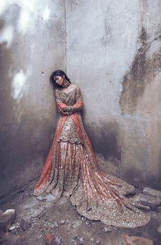 Suffuse by Sana Yasir has this beautiful Freesia Lehenga in her collection which is an embodiment of beauty and grace Pakistani Couture, Pakistani Wedding Dresses, Pakistani Outfits, Indian Dresses, Indian Couture, Asian Wedding Dress, Wedding Dresses For Girls, Fancy Dress Design, Desi Clothes