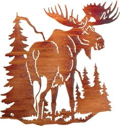 Northern Territory Moose Laser Cut Metal Wall Art