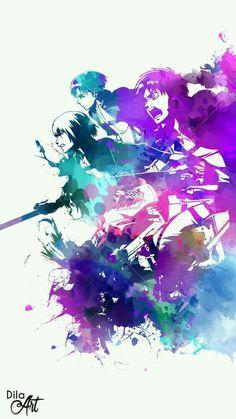 Levi Ackerman, Armin Arlert, Mikasa Ackerman & Eren Jaeger (Shingeki No Kyojin) Art Manga, Manga Anime, Anime Art, The Ancient Magus, Humanoid Creatures, Satsuriku No Tenshi, Attack On Titan Levi, Animation, Ereri
