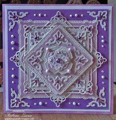 Purple Marvelous Squares Card