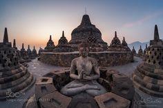 In Balance by Joel_Santos  asia borobudur buddhist heritage indonesia java joel philosophy religion santos statue temple unesco