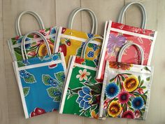 6 Mini Mexican Mercado Bag Party Favor Gift Bags by vivalapress