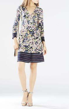 BCBGMAXAZRIA Adele Printed Wrap Dress | BCBG.com
