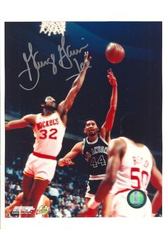 "Autographed George """"Ice Man"""" Gervin San Antonio Spurs 8x10 Photo."