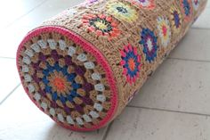 crochet  granny squares | granny circle square bolster | Crochet