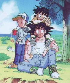 Dragon Ball Z Photo: Goku, Gohan and Krillin Fanarts Anime, Manga Anime, Anime Art, Dragon Ball Gt, Art Gundam, Animation, City Poster, Goku And Gohan, Son Goku