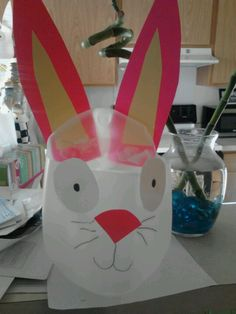 Easter crafts for toddlers. Milk jug Easter basket