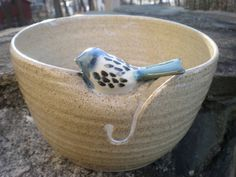 Little Bird Yarn Bowl. Love this one.