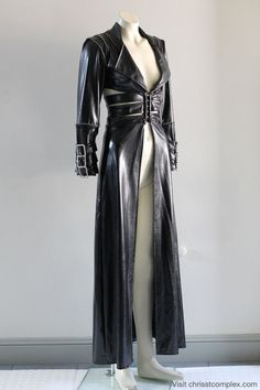 Gothic Jacket Goth Long Black Pvc Zippers Metal by chrisst on Etsy, $625.00