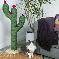 DIY Cat Cactus Scratch Post