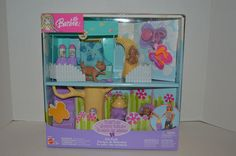 2003 Barbie Posh Pets Pet Park Tree House 3 Pup / Dog Steps Hydrant Bed / Accessories~Brand New