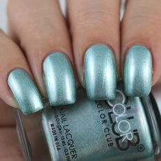Color Club Tougher Than Nails swatched by Olivia Jade Nails Jade Nails, Olivia Jade, Color Club, Halo, Swatch, Chrome, Nail Polish, Collection, Manicure