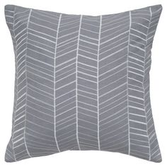 Maui Throw Pillow in Gray