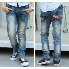 [ 25% OFF ] Children Jeans For Boys Clothing Spring Autumn Boys Denim Pants School Kids Clothes Teenage Boys Trousers 2-15T