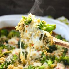 Broccoli and spinach quinoa casserole. So easy, so delicious and healthy for you.