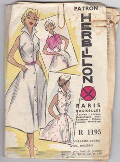 1950's Retro French Pattern Robe Dress Bolero | eBay