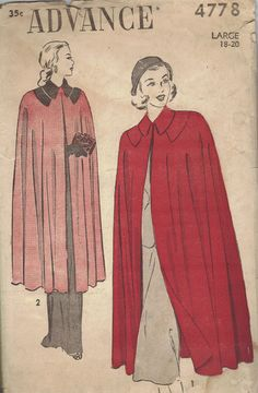 Advance Sewing Pattern 1940s Rare Ladies by AdeleBeeAnnPatterns, $24.50