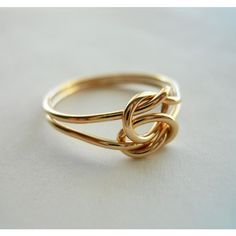 Love Knot 14K Gold Filled Ring found on Polyvore