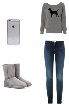 """""""Lazy day outfit"""" by bbtablet on Polyvore featuring Frame Denim and UGG Australia"""